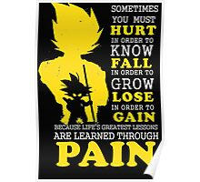 Must Hurt- Know Fall to grow Lose to Gain- Learn through Pain Poster