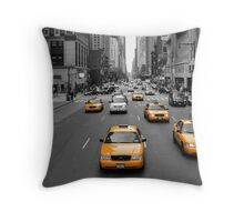 New York's Yellow Army Throw Pillow