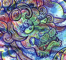 Kaze No Ryū (Wind Dragon) Mixed Media by chongolio