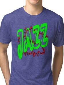 Jazz in Green Tri-blend T-Shirt