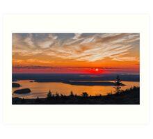 Overlooking Frenchman Bay Art Print
