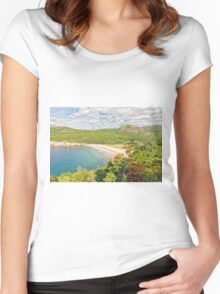 Sand Beach Women's Fitted Scoop T-Shirt