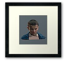 Eleven from Stranger Things  Framed Print