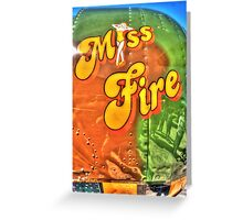"""I never """"Miss Fire"""".  Greeting Card"""