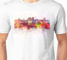 Trieste skyline in watercolor background Unisex T-Shirt
