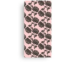 Abstract Rose Pink Flower Canvas Print