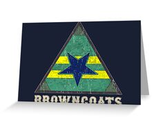 Firefly Browncoats crest grunge Greeting Card