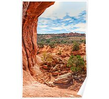 Through an Arch at Arches Poster