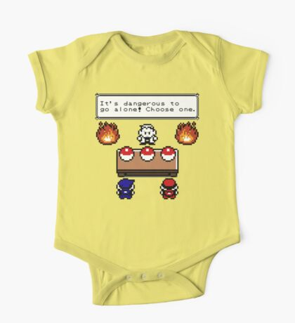 Dangerous to go alone choose a pokemon! One Piece - Short Sleeve