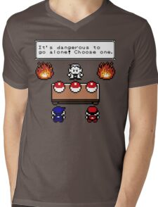 Dangerous to go alone choose a pokemon! Mens V-Neck T-Shirt