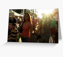 Farmers Market, Late Afternoon Greeting Card
