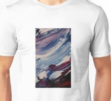 Abstract Prussian Blue Flying Kites 3 Acrylics On  Canvas Board Unisex T-Shirt