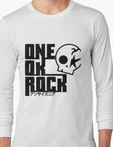 One Ok Rock with skull Black Long Sleeve T-Shirt