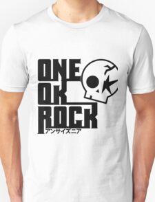 One Ok Rock with skull Black Unisex T-Shirt