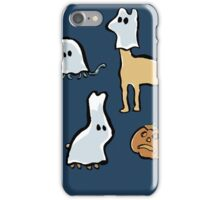 ghost animals and a pumpkin iPhone Case/Skin