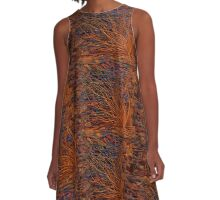 Z-Brush Organic Background A-Line Dress