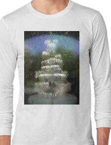 Abstract photo taken through Water Wall at National Gallery Victoria Long Sleeve T-Shirt