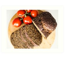 Bread and Tomatoes Art Print