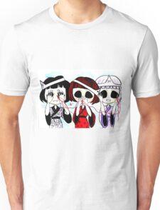 See no evil, speak no evil, hear no evil Unisex T-Shirt