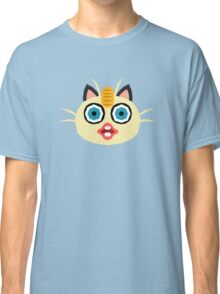 Pokemon, Derp Meowth Classic T-Shirt