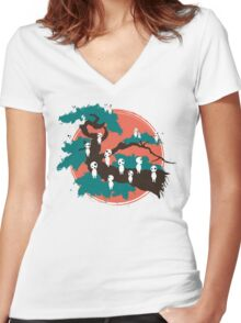 Spirits of the Trees Women's Fitted V-Neck T-Shirt