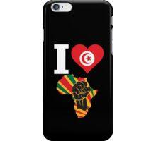 I Love Africa Map Black Power Tunisia Flag iPhone Case/Skin