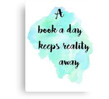 A book a day (black) Canvas Print