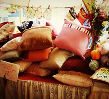 Cushions at Mornington Street Market. vic. Australia by EdsMum