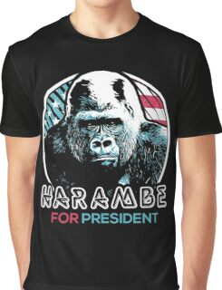 Harambe for President Graphic T-Shirt