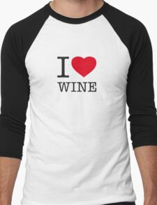 I ♥ WINE Men's Baseball ¾ T-Shirt