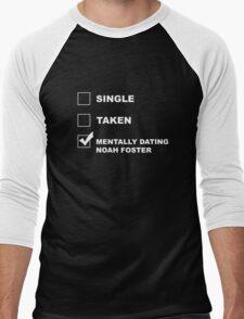 Mentally Dating Noah Foster - White Men's Baseball ¾ T-Shirt