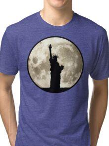 Full Moon Liberty Silhouette Tri-blend T-Shirt