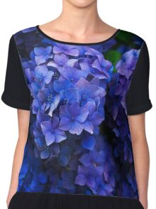 Purple Flowers  Chiffon Top