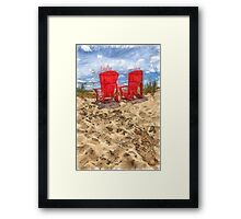 Peace Among the Dunes Pencil Framed Print