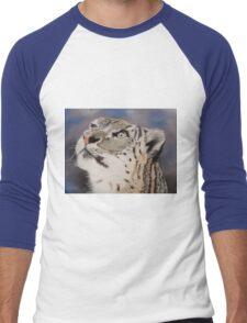 Léopard des neiges Men's Baseball ¾ T-Shirt