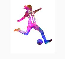 Girl playing soccer football player silhouette Unisex T-Shirt