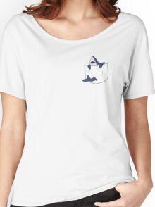 Blue shark pocket Women's Relaxed Fit T-Shirt