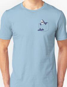 Blue shark pocket Unisex T-Shirt