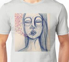 blue ink lady's mood Unisex T-Shirt
