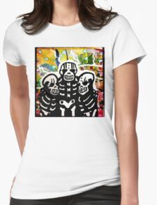 The Brothers Skelly. Mixed Media Womens Fitted T-Shirt