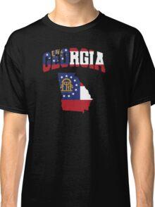Georgia Flag in Georgia Map Classic T-Shirt