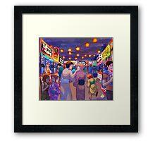 night festival Framed Print