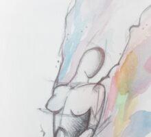 Watercolor Angel  Sticker