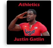 Justin Gatlin champion Canvas Print