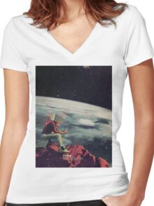 Figuring Out Ways To Escape Women's Fitted V-Neck T-Shirt