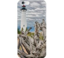 Crisp Point Lighthouse and Driftwood iPhone Case/Skin