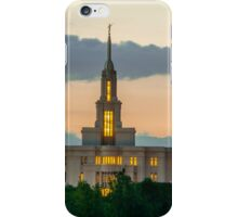 Payson Utah Temple Sunset south iPhone Case/Skin