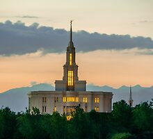Payson Utah Temple Sunset south by LaRae55