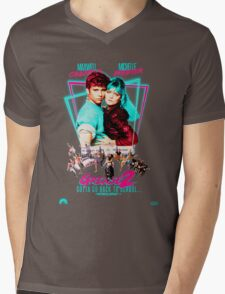 Neon 80's GREASE 2  Mens V-Neck T-Shirt