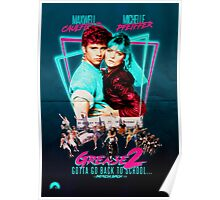 Neon 80's GREASE 2  Poster